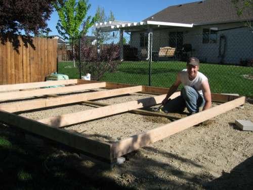 Building Shed On Concrete Slab