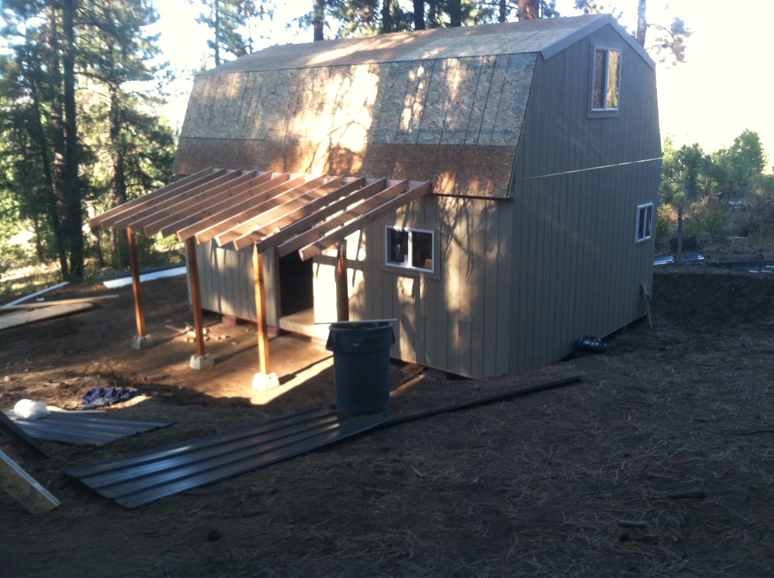^ 16x24 Shed Plans. 24  27 Gambrel Pole Barn Plans. 16  24 wo ...