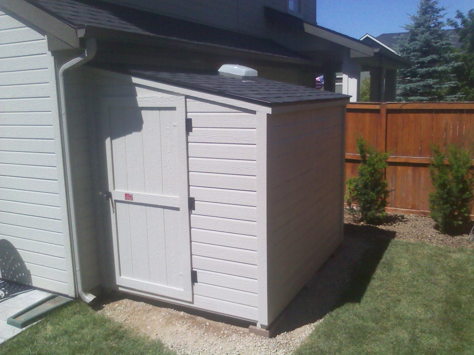 Idaho wood sheds 39 blog good looking sheds built to last for Building a lean to roof on a house