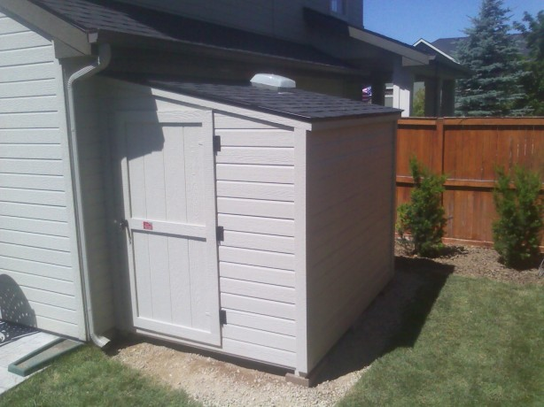 George shed 39 s complete building a shed against your house for Lean to shed attached to house